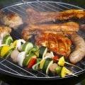 Овощи и мясо на гриле