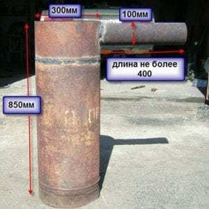 Размеры заготовок для печи из баллона