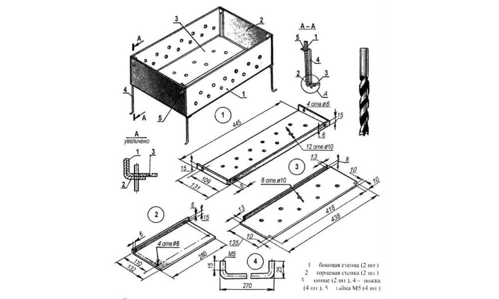 Как сварить мангал своими руками: размеры, материалы и технология работы
