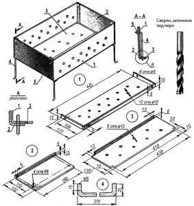 Схема сборки мангала