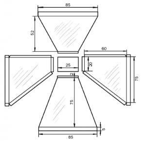 Схема зонта дымоулавливателя