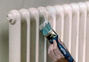 Виды эмали для радиаторов отопления и процесс покраски