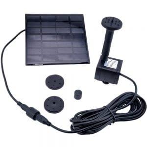 фонтан на выносных солнечных батареях