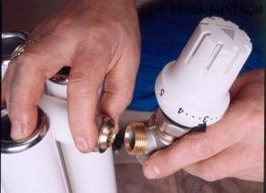 монтаж термостата для радиатора отопления
