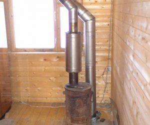 печь металлическая из трубы