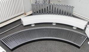 Размер секции алюминиевого радиатора