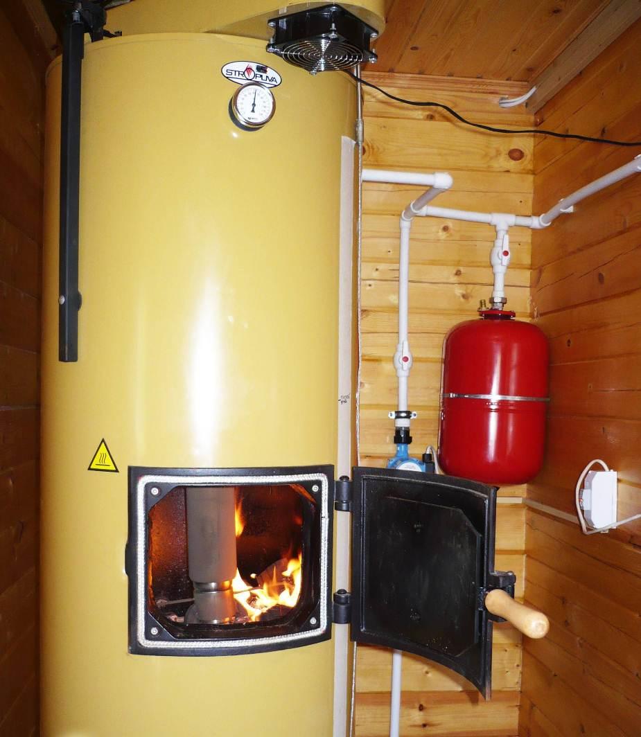 схема монтажа котлов отопления на твёрдом топливе