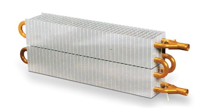 Пластинчатый радиатор из меди и алюминия