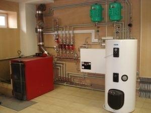 Система отопления с твёрдотопливным котлом