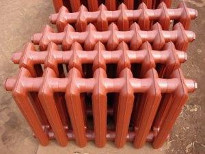 Стандартные чугунные радиаторы без покраски