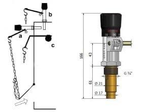 Устройство и размеры стандартного регулятора тяги