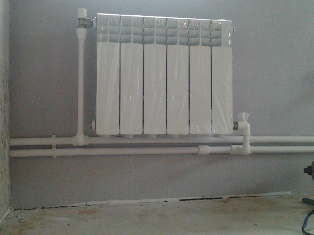 Вариант диагонального подключения радиатора