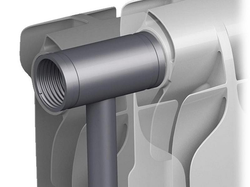 Внутренние строение биметаллического радиатора