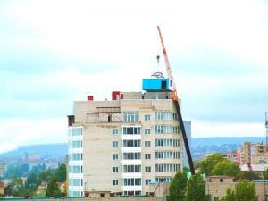 Монтаж модульной котельной на крышу