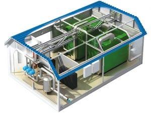 Строение модульной газовой котельной