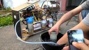 Запуск водородного котла